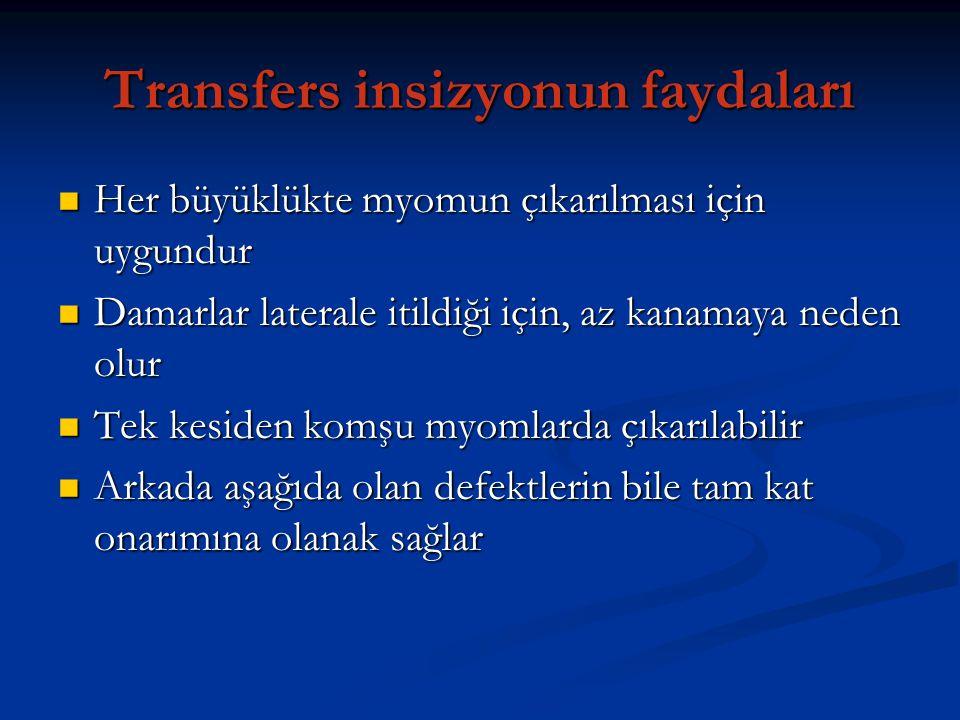Transfers insizyonun faydaları