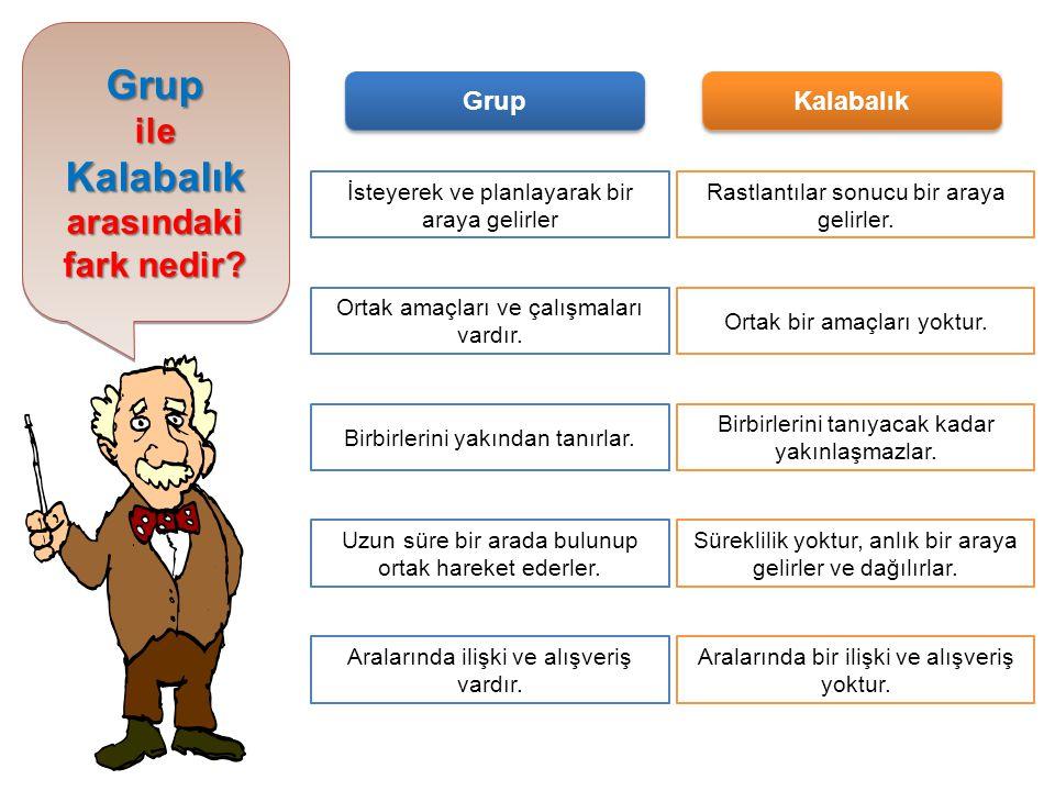 Grup Kalabalık ile arasındaki fark nedir Grup Kalabalık