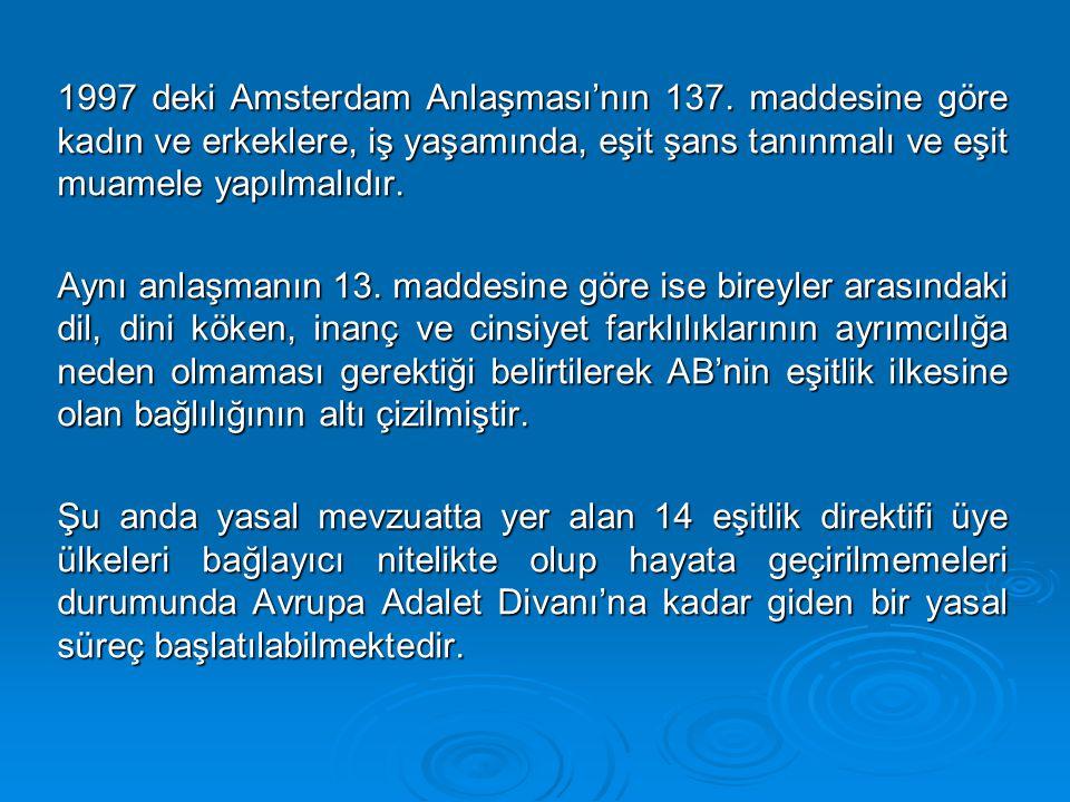 1997 deki Amsterdam Anlaşması'nın 137