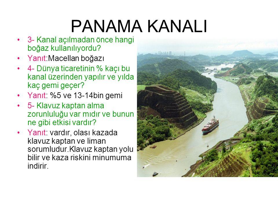 PANAMA KANALI 3- Kanal açılmadan önce hangi boğaz kullanılıyordu