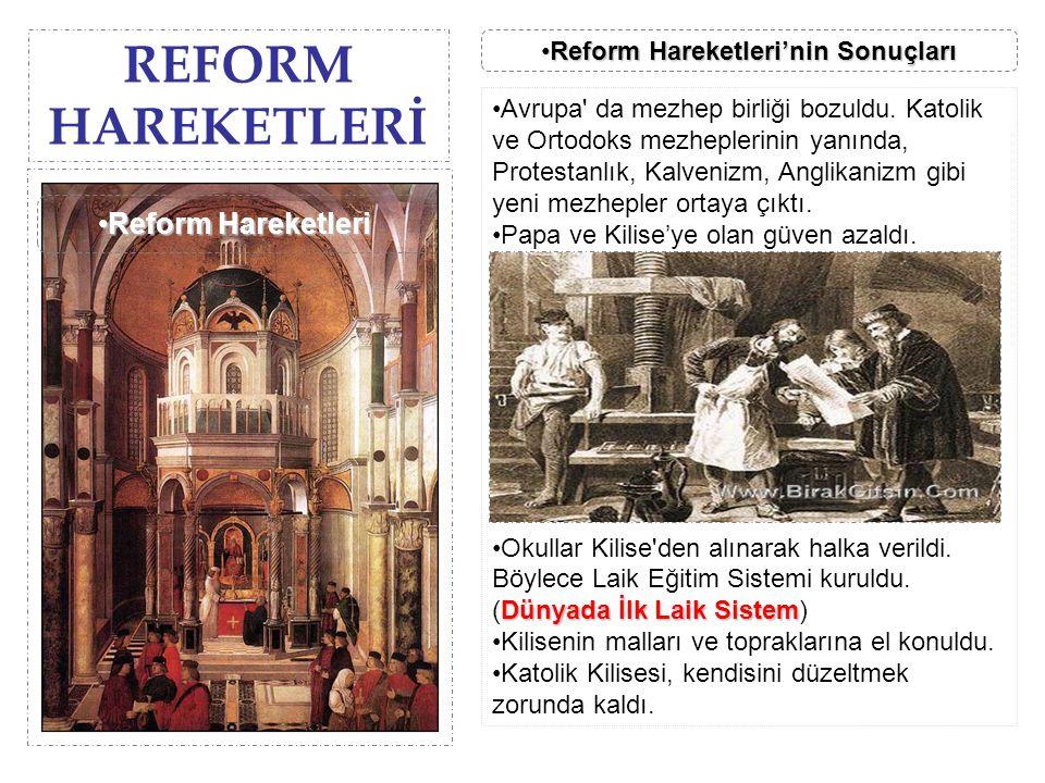 Reform Hareketleri'nin Sonuçları