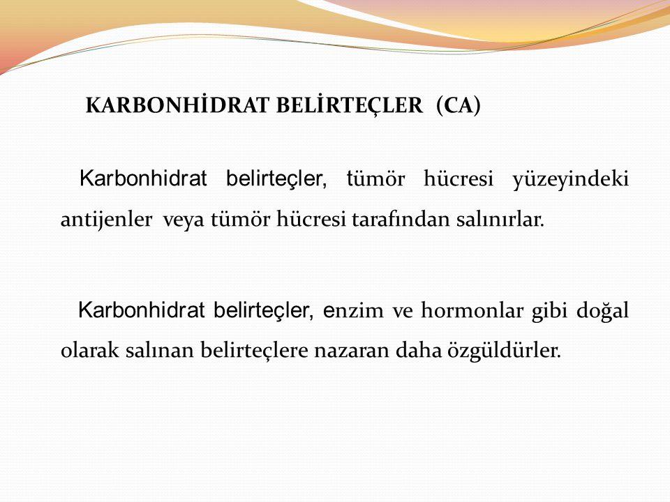 KARBONHİDRAT BELİRTEÇLER (CA)