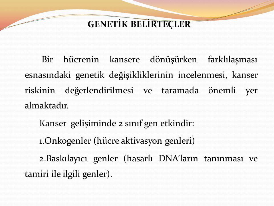 GENETİK BELİRTEÇLER