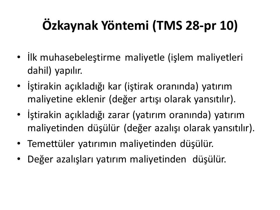 Özkaynak Yöntemi (TMS 28-pr 10)