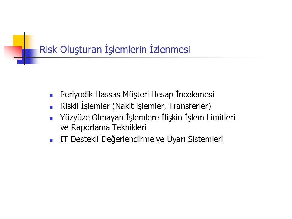 Risk Oluşturan İşlemlerin İzlenmesi