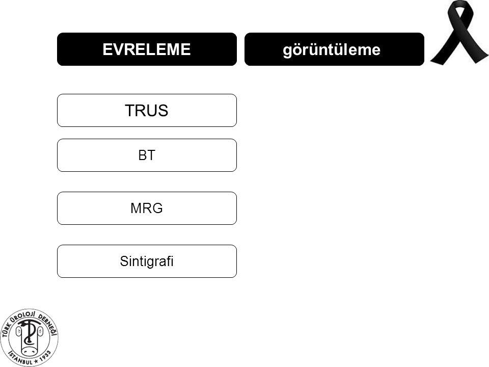 EVRELEME görüntüleme TRUS BT MRG Sintigrafi