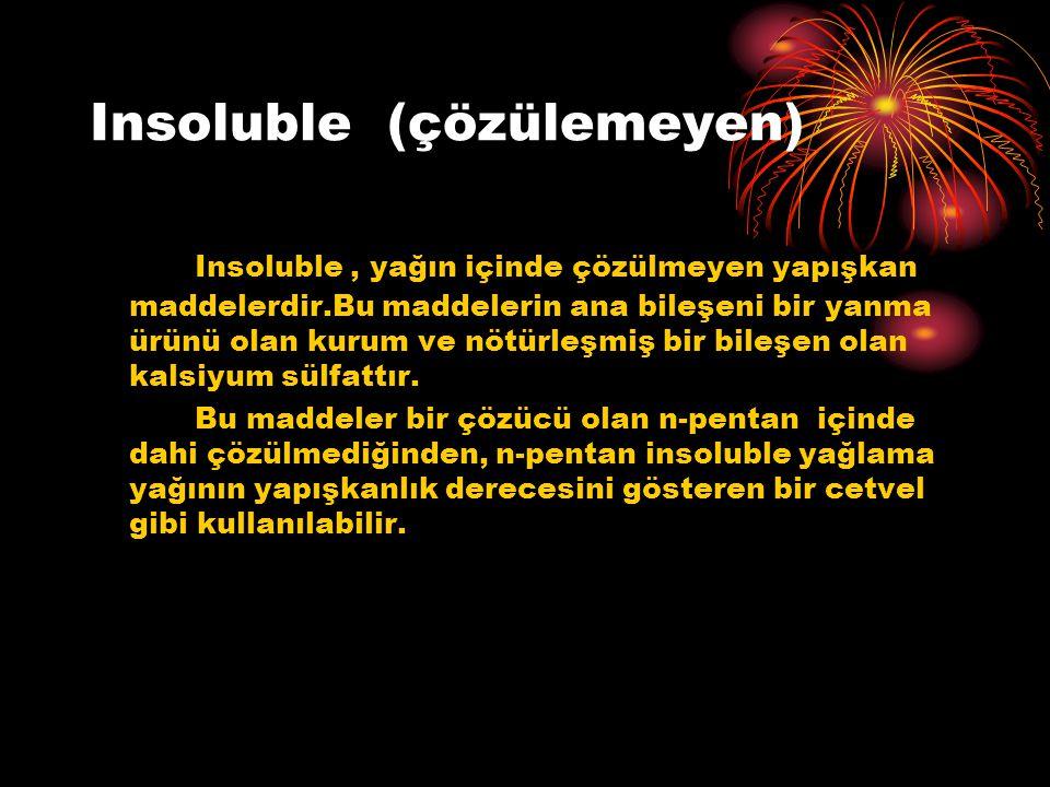Insoluble (çözülemeyen)