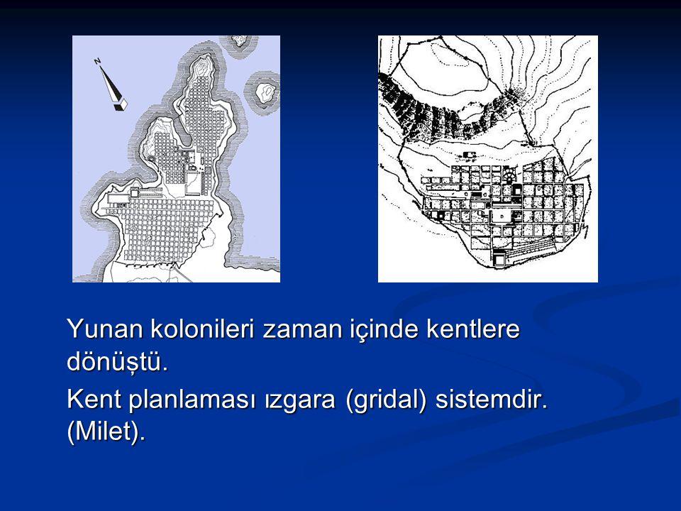 Yunan kolonileri zaman içinde kentlere dönüştü.