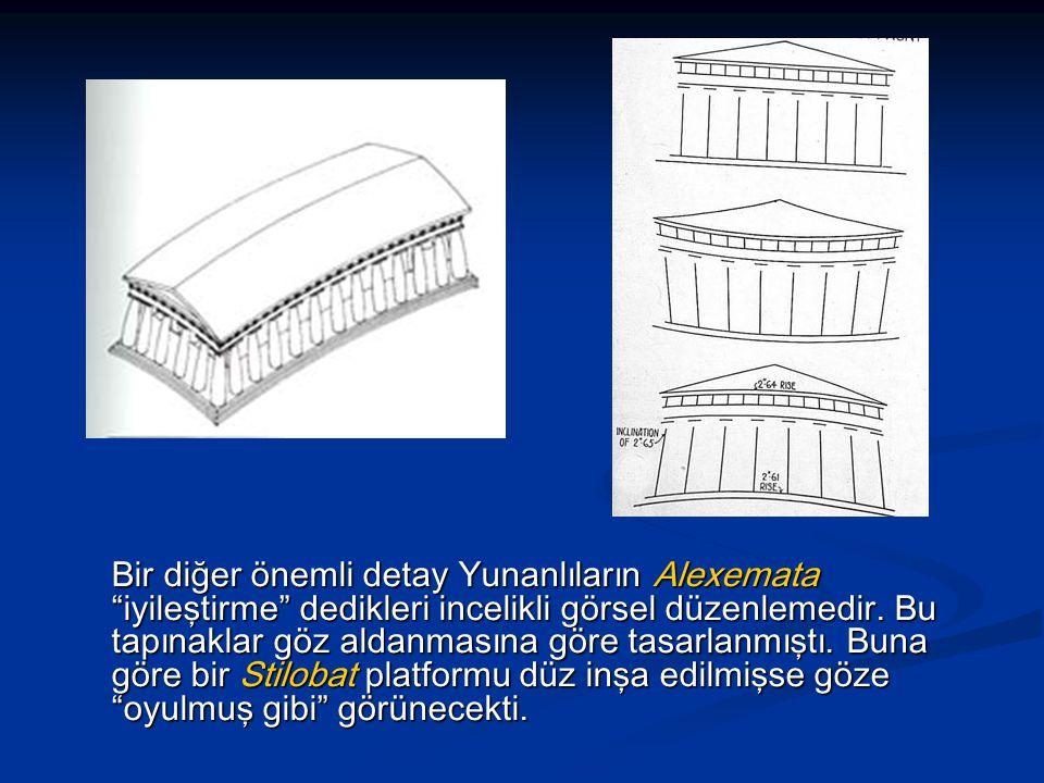Bir diğer önemli detay Yunanlıların Alexemata iyileştirme dedikleri incelikli görsel düzenlemedir.