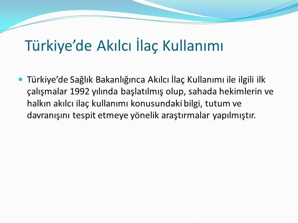 Türkiye'de Akılcı İlaç Kullanımı