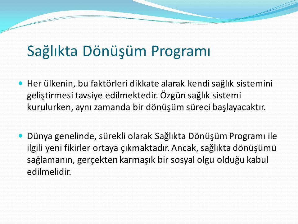 Sağlıkta Dönüşüm Programı