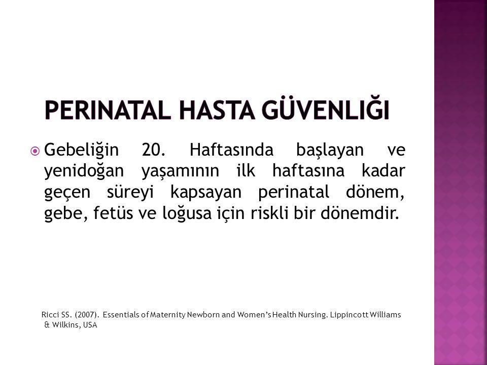 Perinatal Hasta Güvenliği