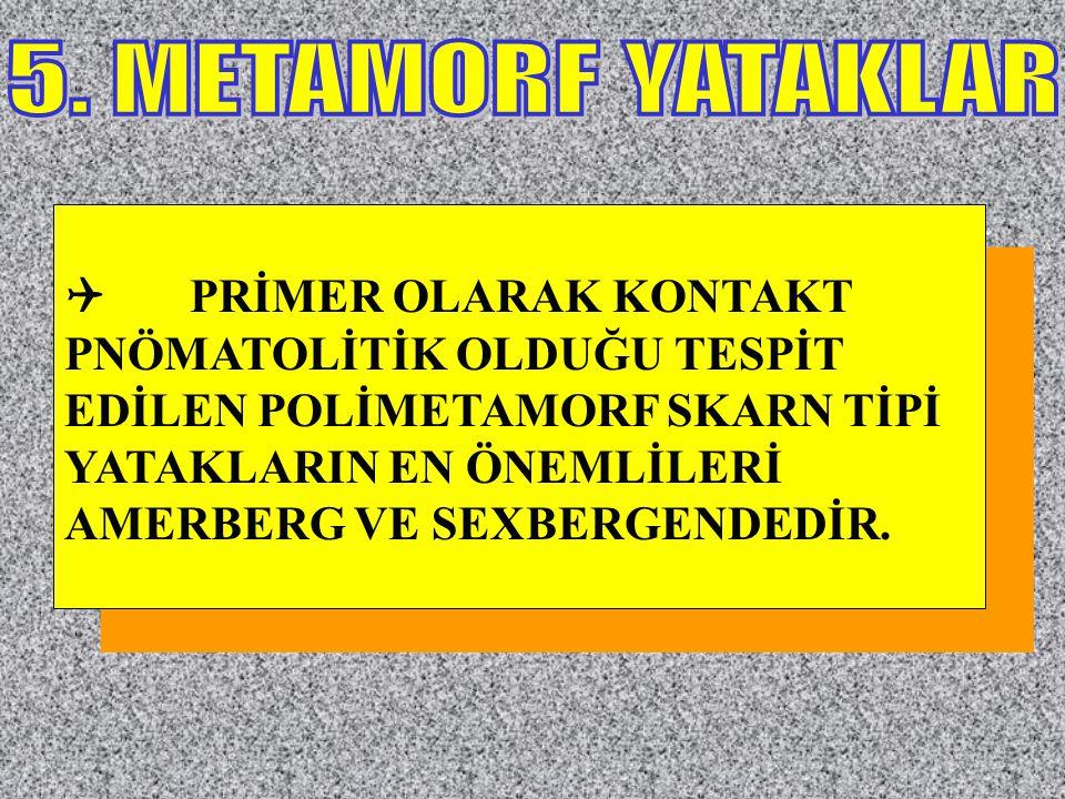 5. METAMORF YATAKLAR