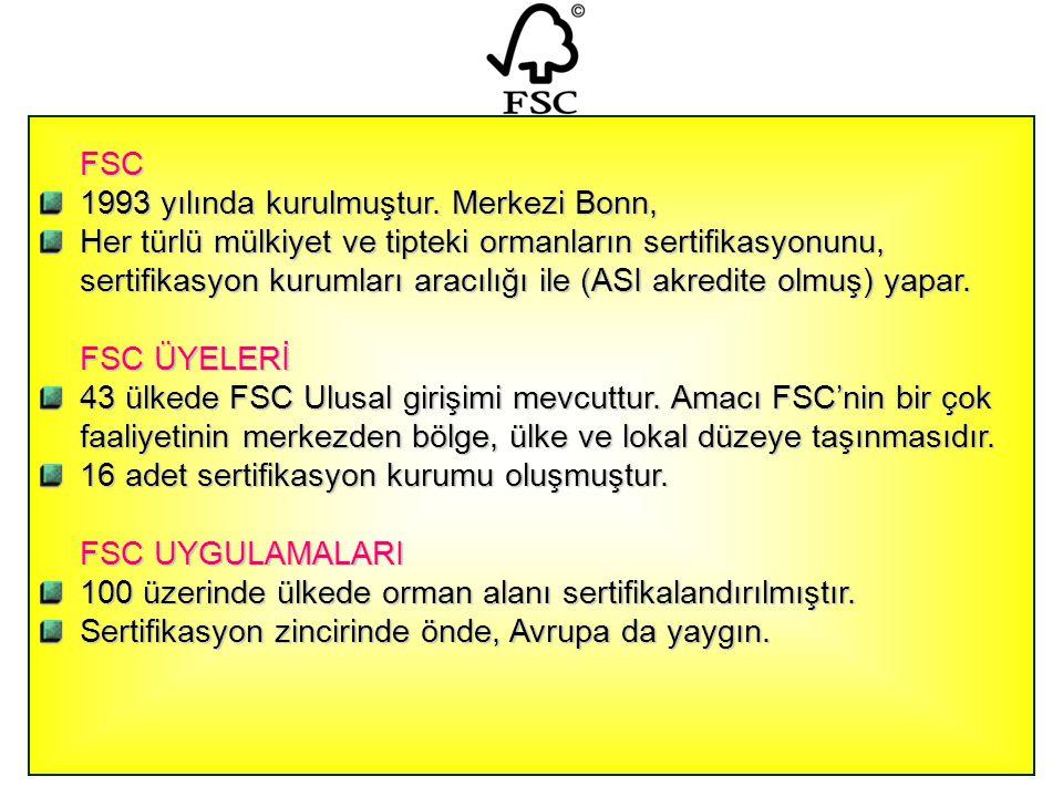 FSC 1993 yılında kurulmuştur. Merkezi Bonn,