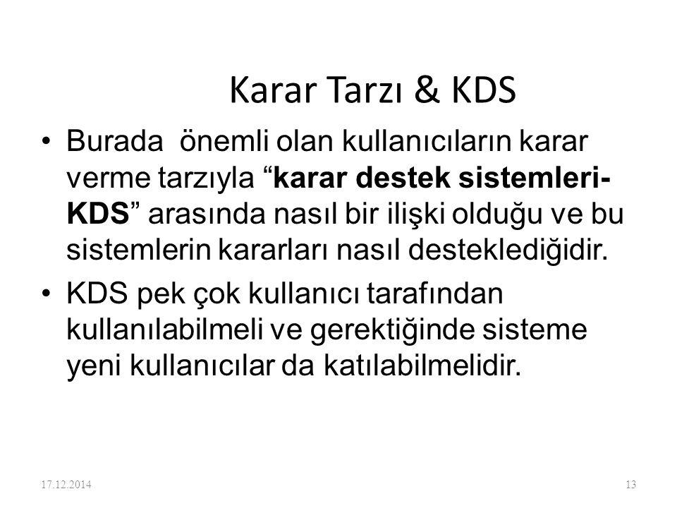 Karar Tarzı & KDS