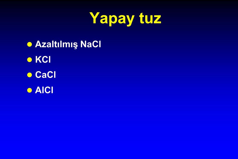 Yapay tuz Azaltılmış NaCl KCl CaCl AlCl