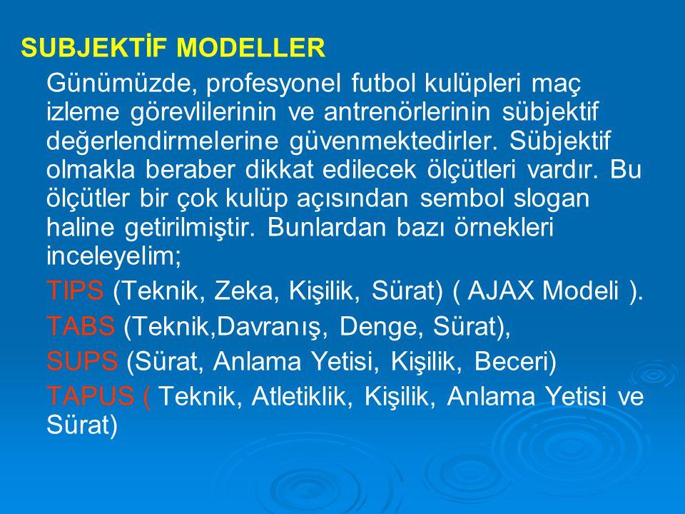 SUBJEKTİF MODELLER