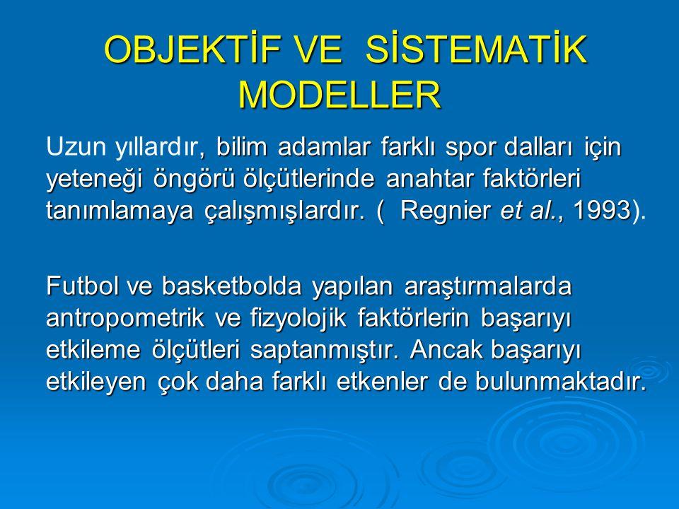 OBJEKTİF VE SİSTEMATİK MODELLER
