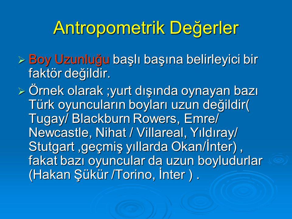 Antropometrik Değerler