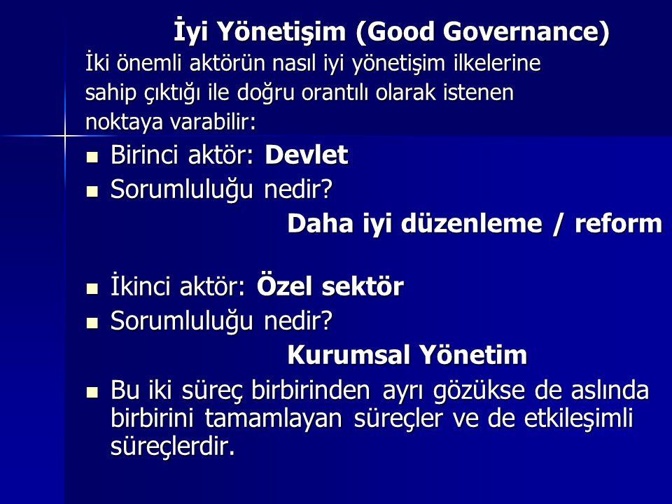 İyi Yönetişim (Good Governance)