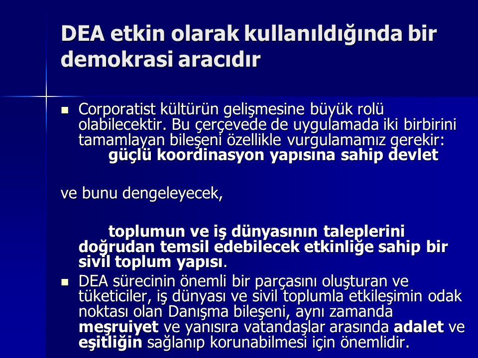 DEA etkin olarak kullanıldığında bir demokrasi aracıdır