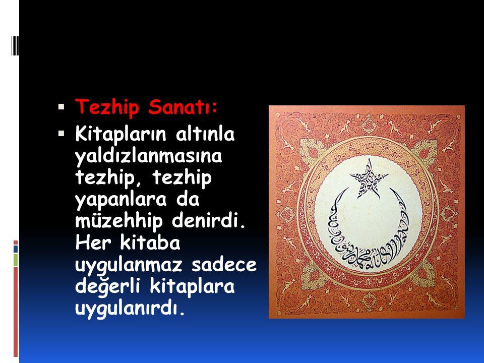 Tezhip Sanatı: