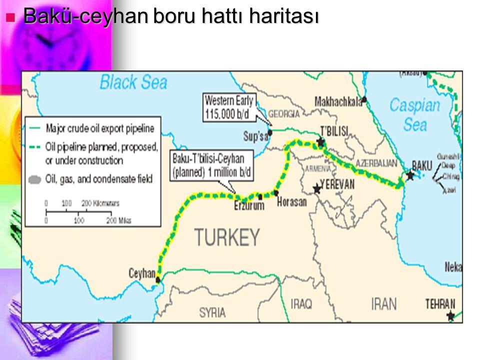 Bakü-ceyhan boru hattı haritası