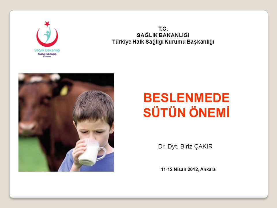 Türkiye Halk Sağlığı Kurumu Başkanlığı BESLENMEDE SÜTÜN ÖNEMİ