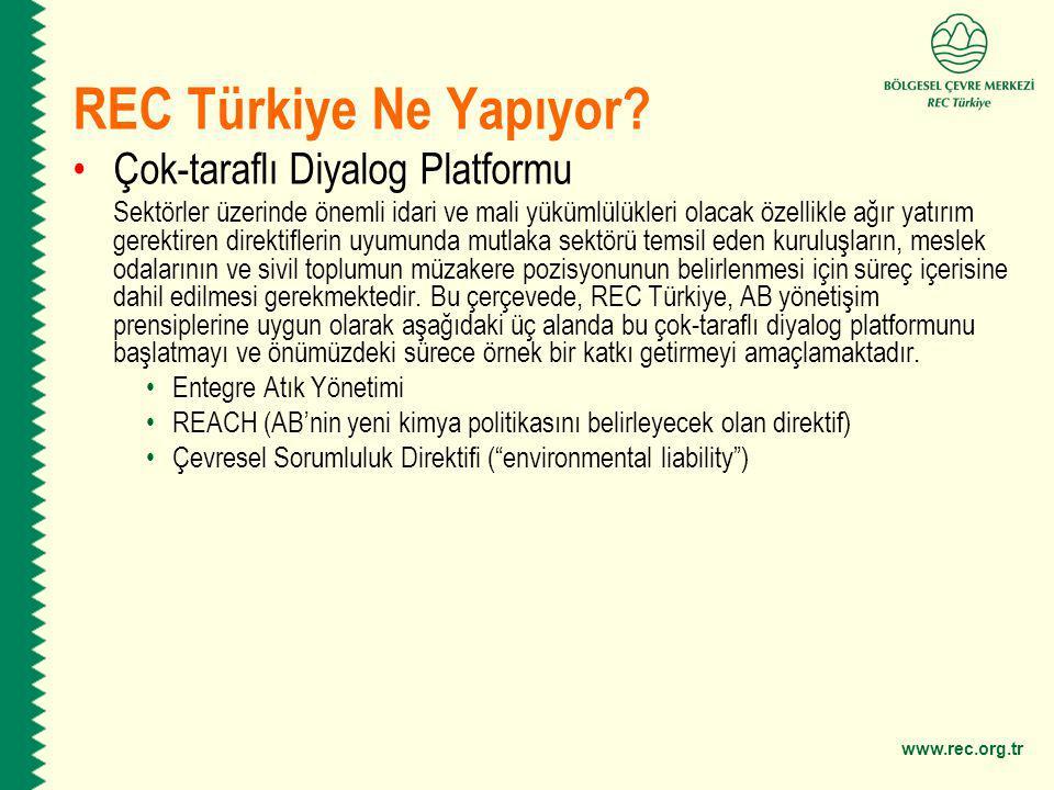 REC Türkiye Ne Yapıyor Çok-taraflı Diyalog Platformu