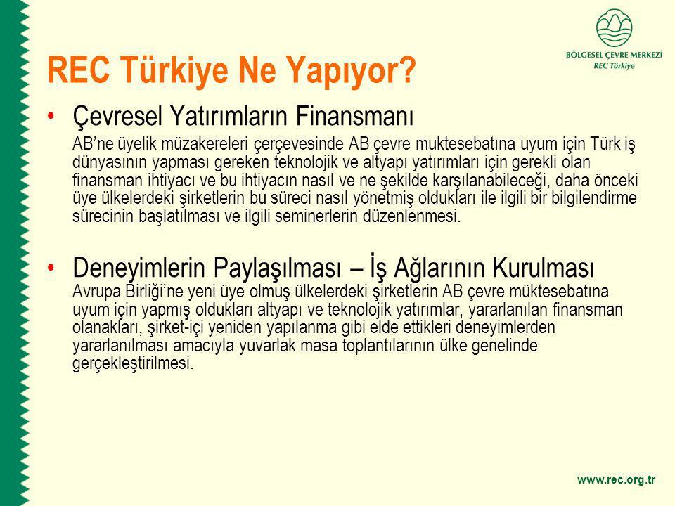 REC Türkiye Ne Yapıyor Çevresel Yatırımların Finansmanı