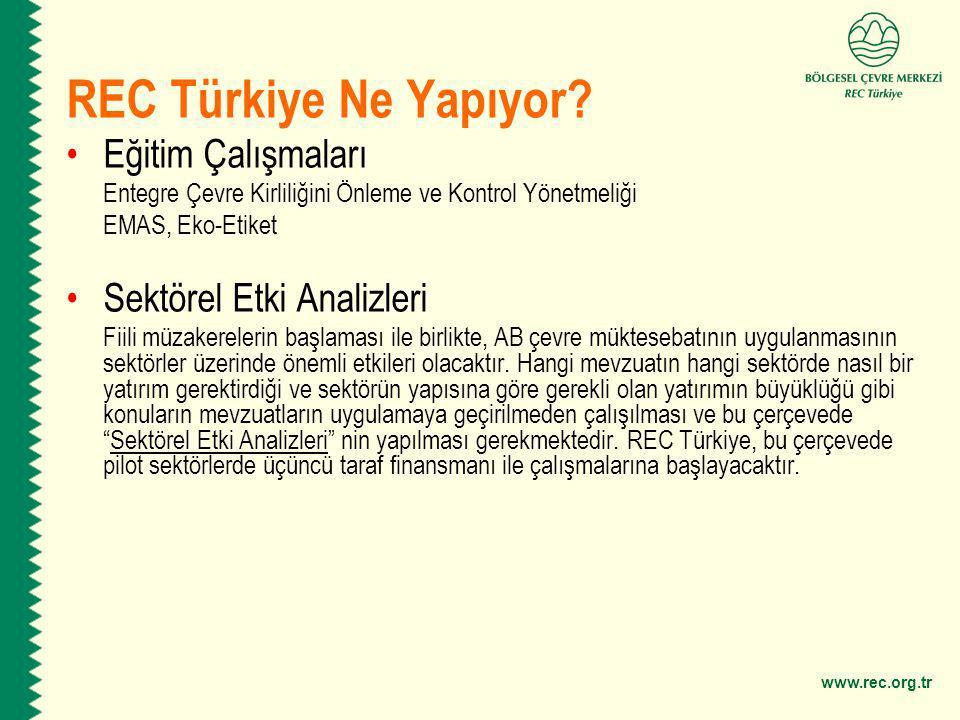 REC Türkiye Ne Yapıyor Eğitim Çalışmaları Sektörel Etki Analizleri