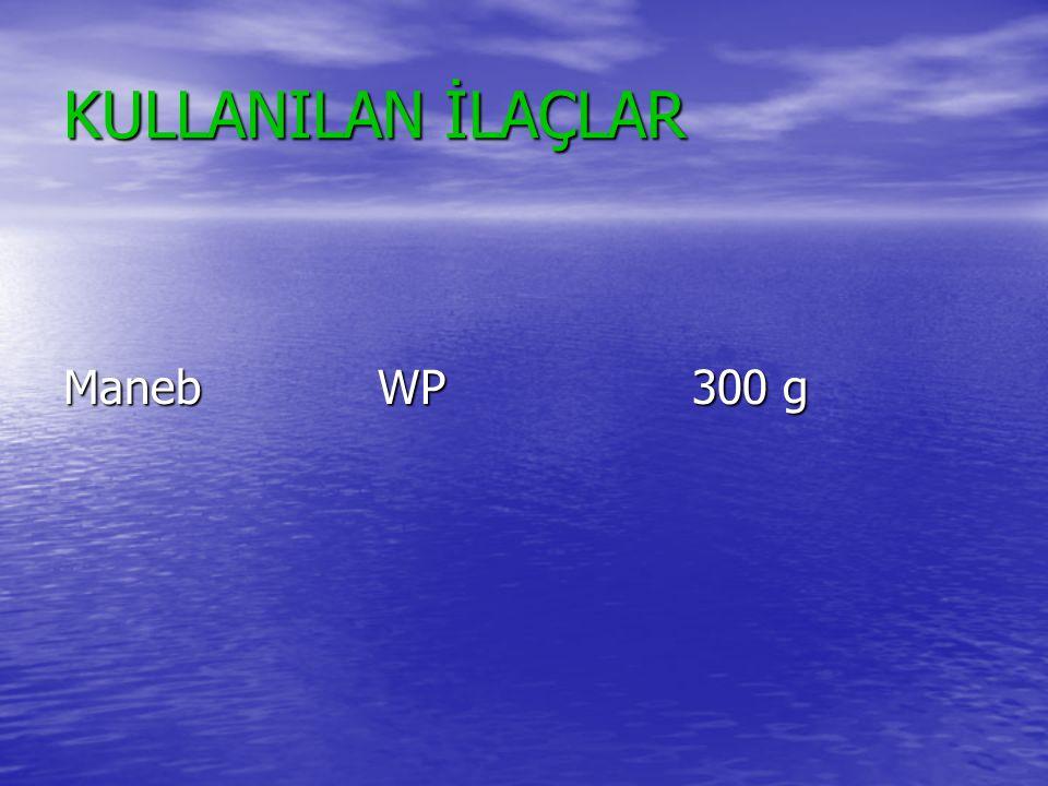 KULLANILAN İLAÇLAR Maneb WP 300 g
