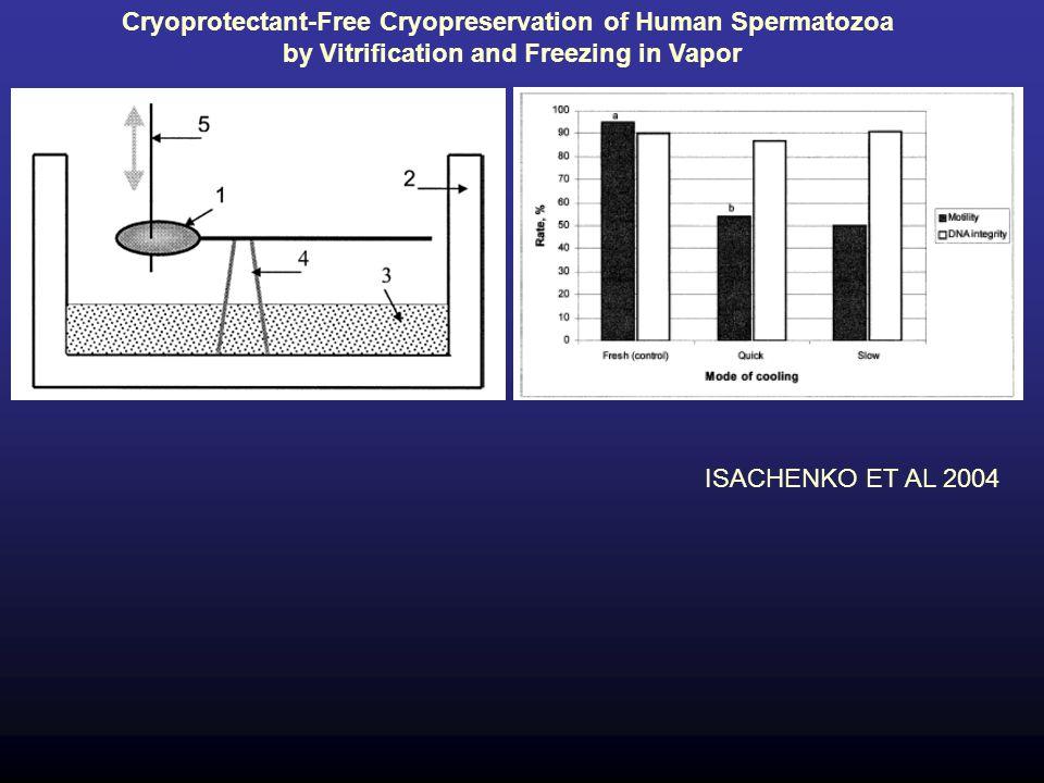 Cryoprotectant-Free Cryopreservation of Human Spermatozoa