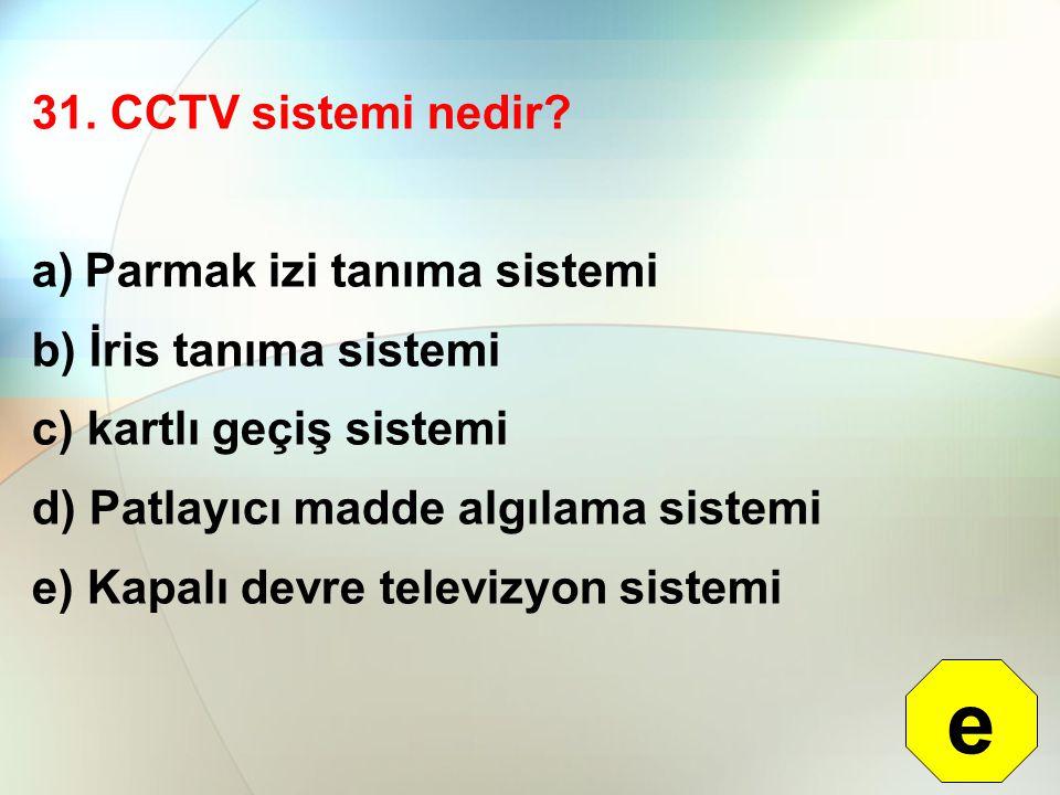e 31. CCTV sistemi nedir Parmak izi tanıma sistemi
