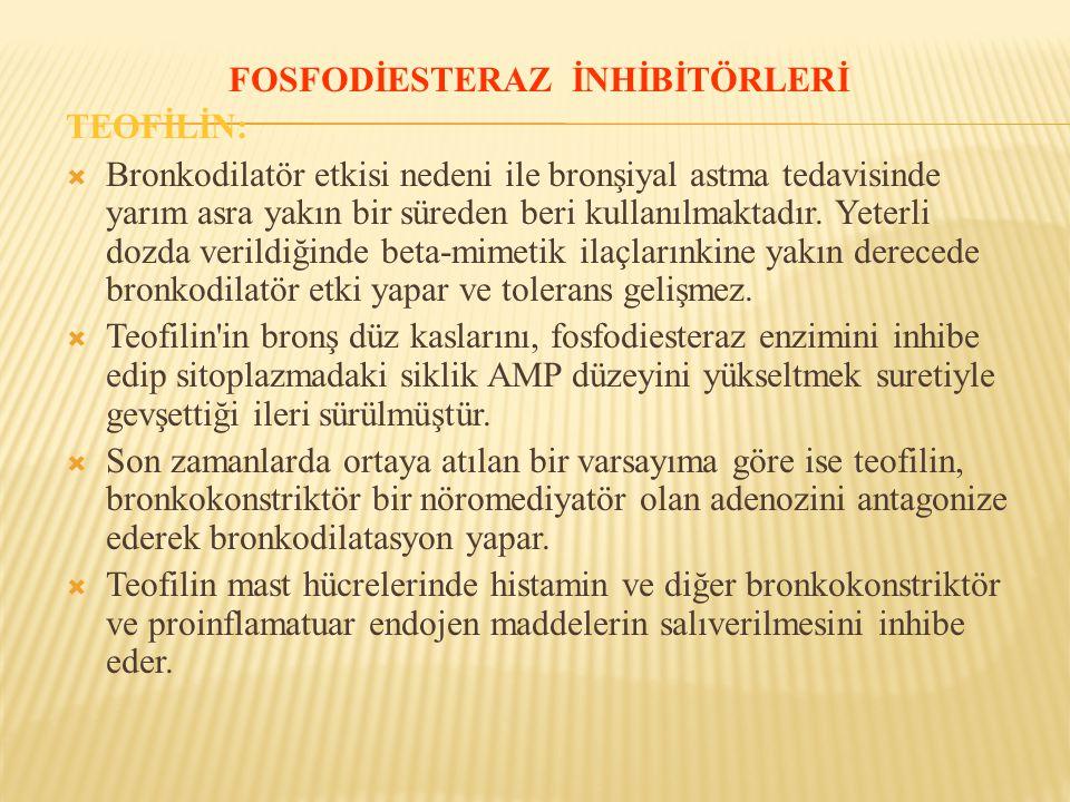 FOSFODİESTERAZ İNHİBİTÖRLERİ