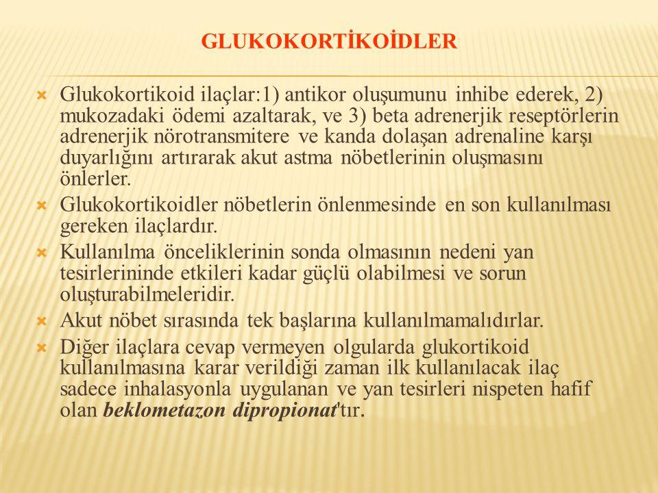 GLUKOKORTİKOİDLER