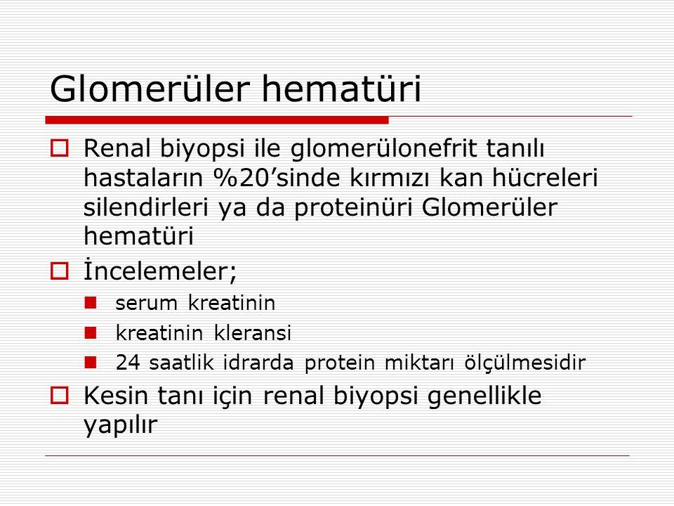 Glomerüler hematüri