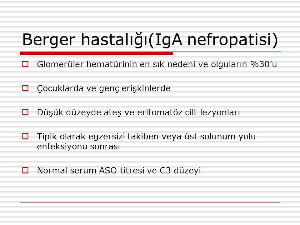 Berger hastalığı(IgA nefropatisi)