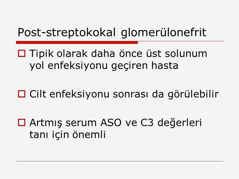 Post-streptokokal glomerülonefrit