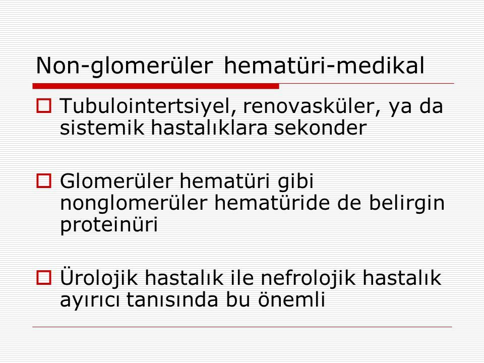 Non-glomerüler hematüri-medikal