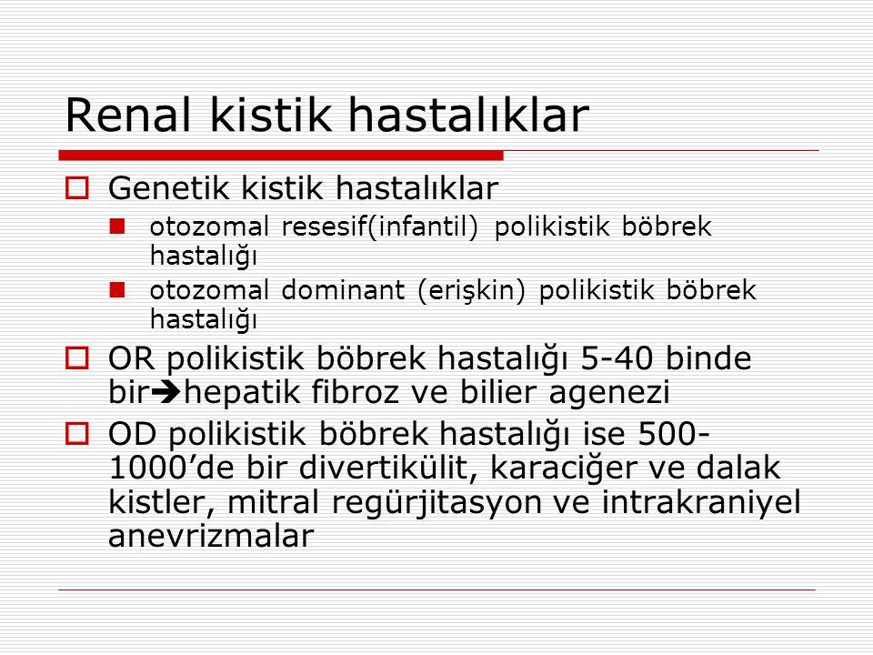 Renal kistik hastalıklar