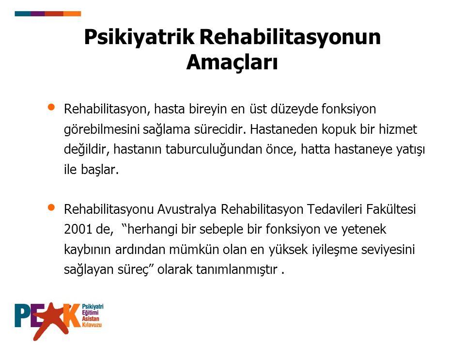 Psikiyatrik Rehabilitasyonun Amaçları