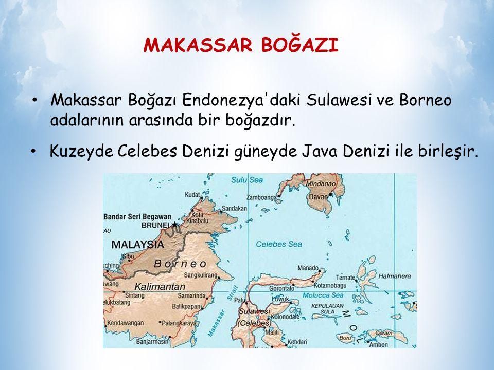 MAKASSAR BOĞAZI Makassar Boğazı Endonezya daki Sulawesi ve Borneo adalarının arasında bir boğazdır.