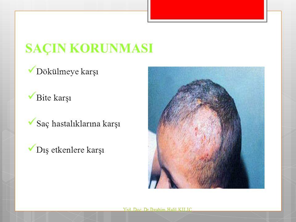 SAÇIN KORUNMASI Dökülmeye karşı Bite karşı Saç hastalıklarına karşı