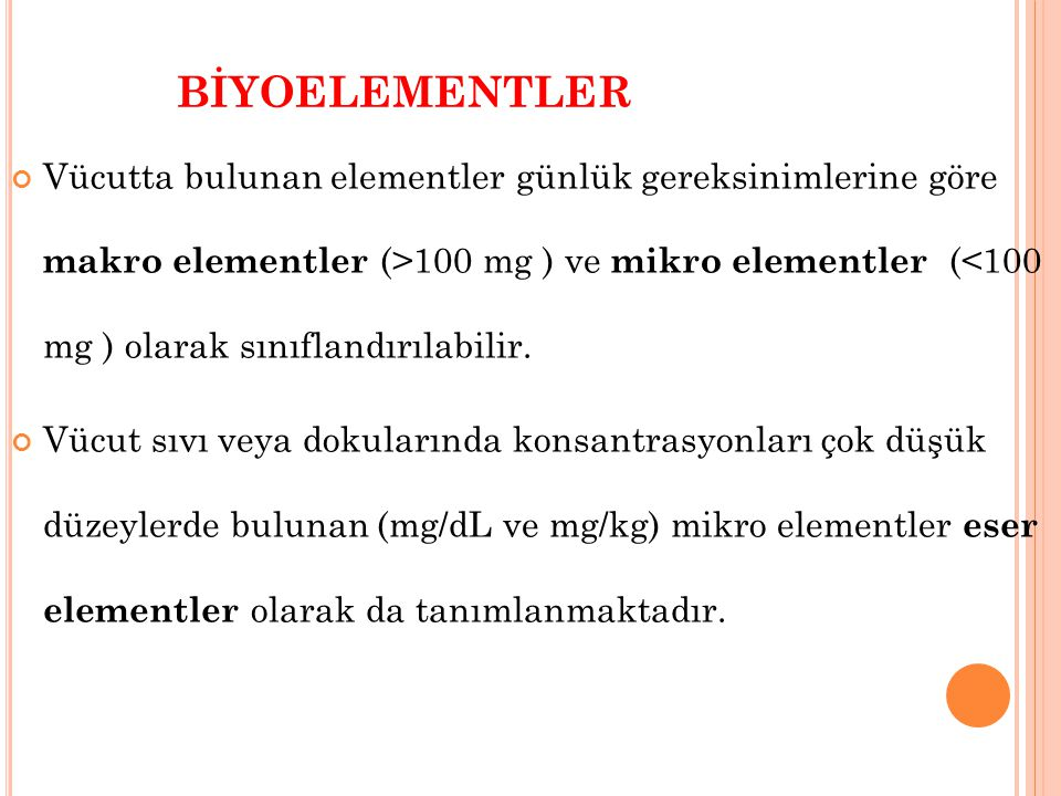 BİYOELEMENTLER