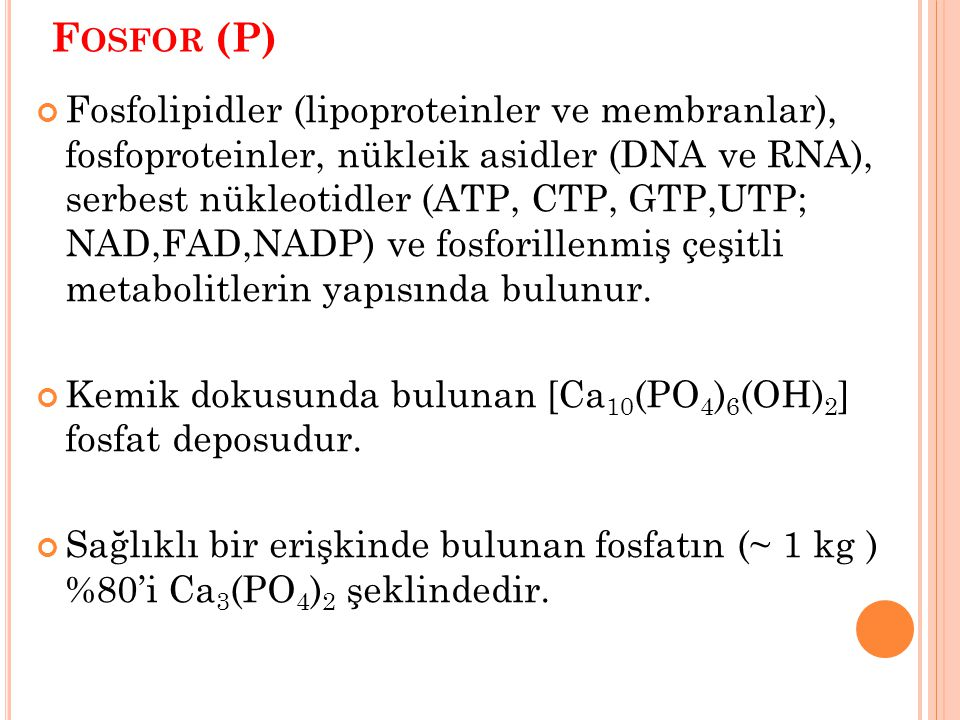 Fosfor (P)