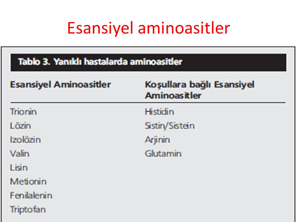 Esansiyel aminoasitler