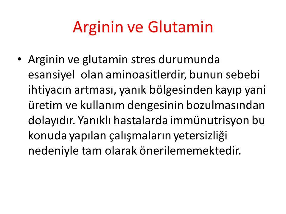 Arginin ve Glutamin