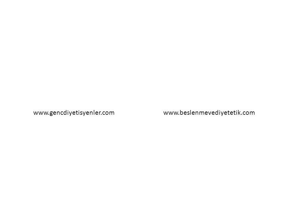 www.gencdiyetisyenler.com www.beslenmevediyetetik.com