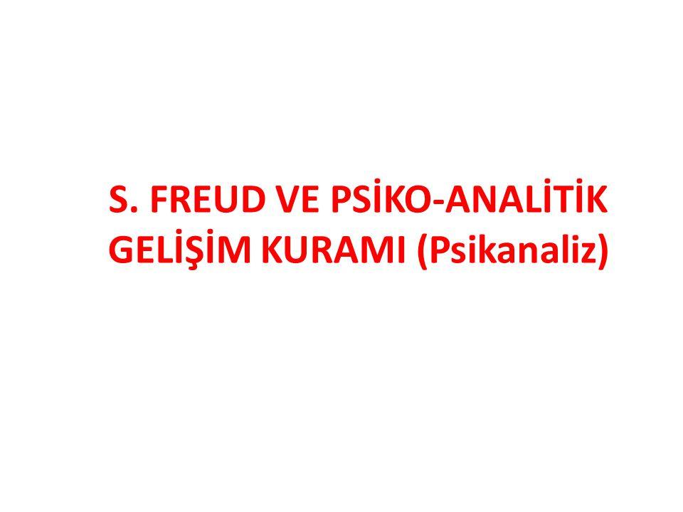 S. FREUD VE PSİKO-ANALİTİK GELİŞİM KURAMI (Psikanaliz)